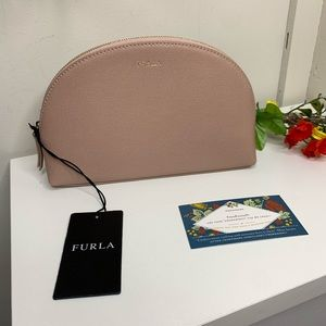 SALE🌴Furla Blush Pink Dome Cosmetic Pouch